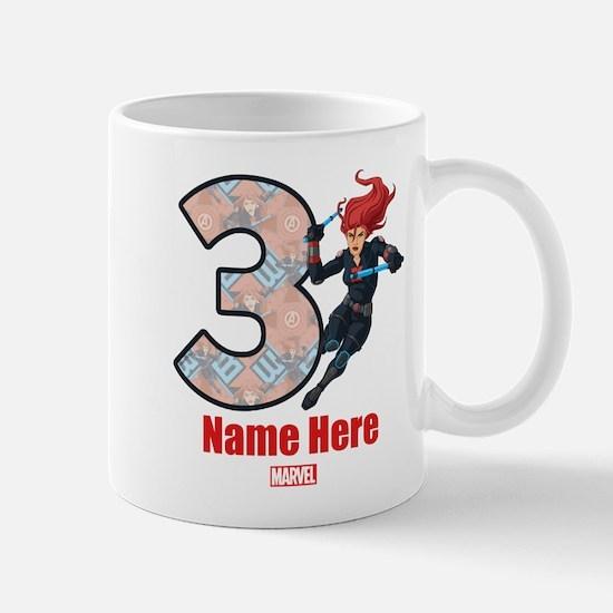 Personalized Black Widow Age 3 Mug