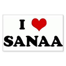 I Love SANAA Rectangle Decal