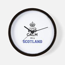 I can't keep calm Im SCOTLAND Wall Clock
