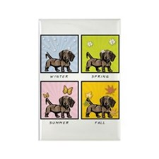 4 Seasons Doxie Rectangle Magnet