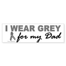 I Wear Grey For My Dad 2 (BC) Bumper Bumper Sticker