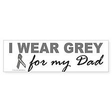 I Wear Grey For My Dad 2 (BC) Bumper Car Sticker