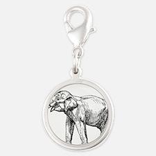 Indian elephant line art Charms