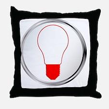 Unique Light bulbs Throw Pillow