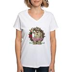 Heather Hippo Women's V-Neck T-Shirt