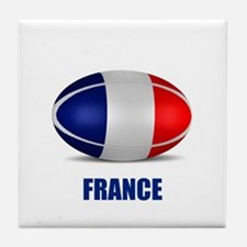 Cute Rugby france Tile Coaster