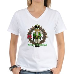 Nutcracker (Green) Women's V-Neck T-Shirt