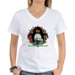 Pongo Penguin Women's V-Neck T-Shirt
