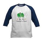 Eat My Daddy's Dust Marathon Kids Baseball Jersey