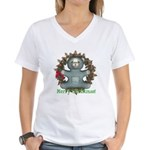 Teddy Bear Women's V-Neck T-Shirt