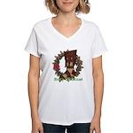 Christmas Stocking Women's V-Neck T-Shirt