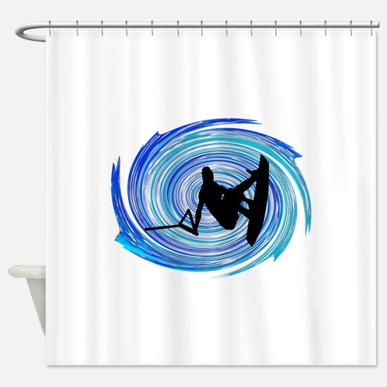 WAKEBOARD Shower Curtain