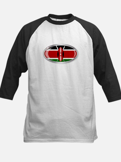 Kenya Flag Oval Button Baseball Jersey