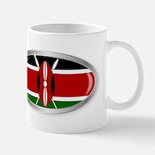 Kenya Flag Oval Button Mugs