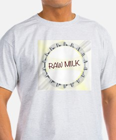 Raw Milk Glass Bottle Cap T-Shirt