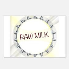 Raw Milk Glass Bottle Cap Postcards (Package of 8)