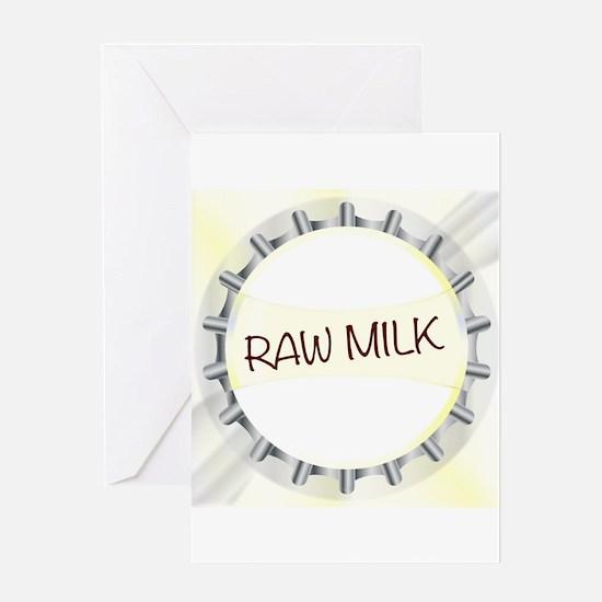 Raw Milk Glass Bottle Cap Greeting Cards