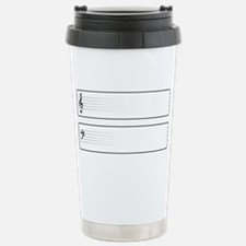 Bass And Treble Clef We Travel Mug