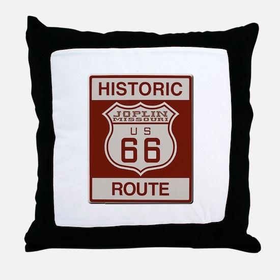 Joplin Route 66 Throw Pillow