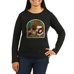 Praying Santa Women's Long Sleeve Dark T-Shirt
