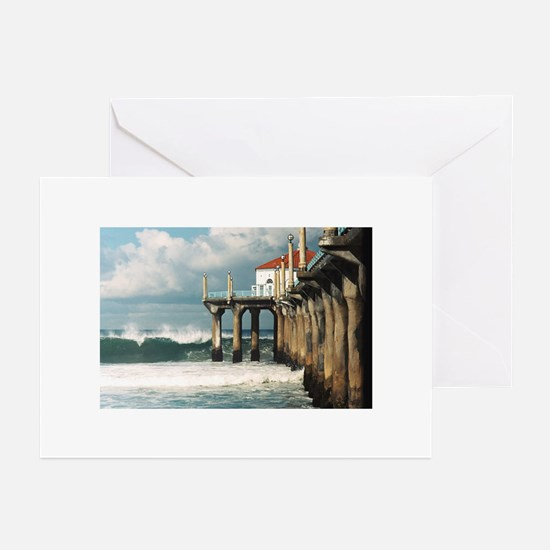 Manhattan Beach Pier Greeting Cards