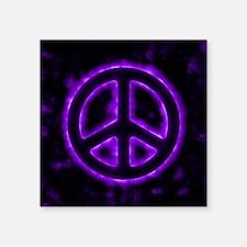 Purple Peace Sign Sticker