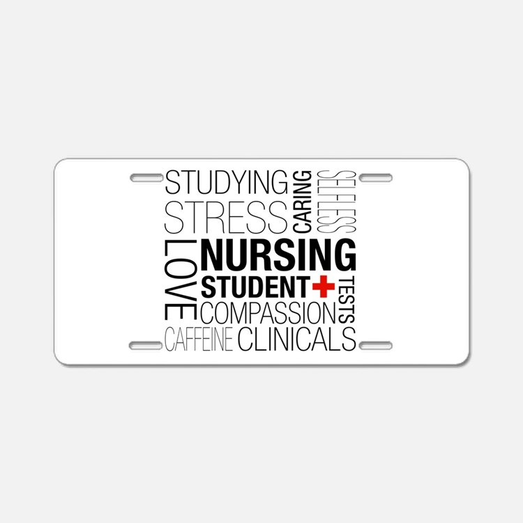 Nursing Student Box Aluminum License Plate