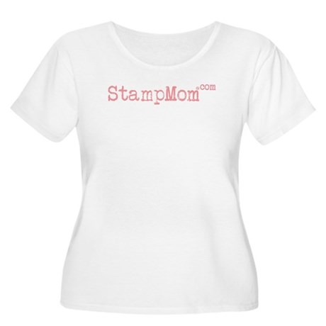 StampMom Women's Plus Size Scoop Neck T-Shirt