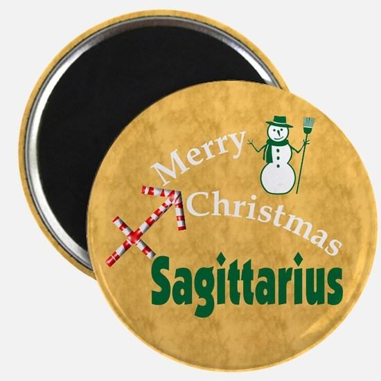 Sagittarius Christmas Magnet