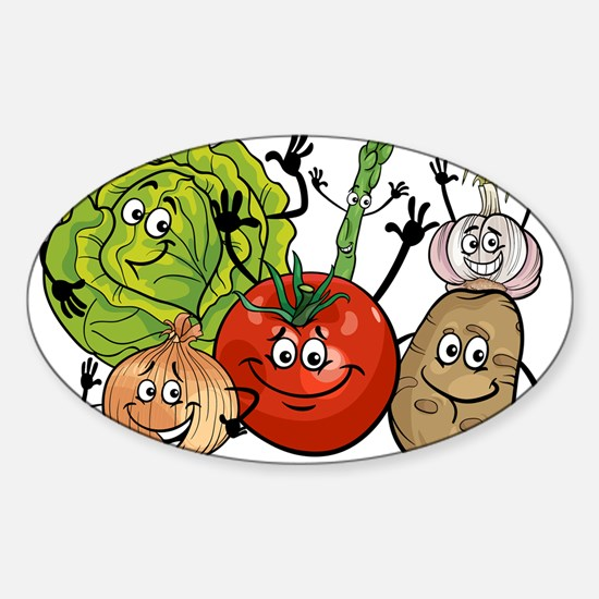 Funny cartoon vegetables Decal