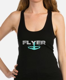 Blue Cheerleader Flyer Racerback Tank Top