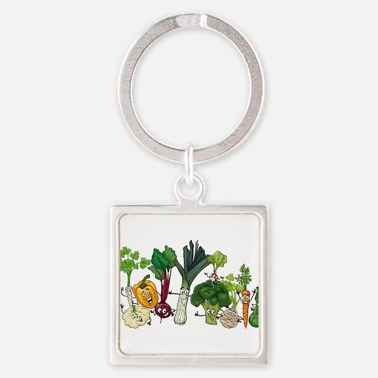 Funny cartoon vegetables Keychains