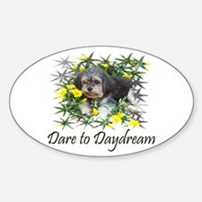 Dare to Daydream Dog Oval Decal