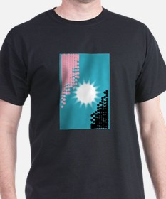 Pink and Blue Background T-Shirt