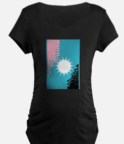 Pink and Blue Background Maternity T-Shirt