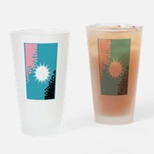 Pink and Blue Background Drinking Glass