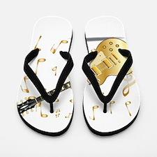Gold Top Flip Flops