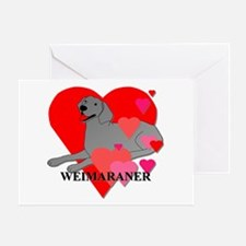 Weimaraner Hearts Greeting Card