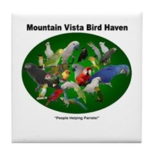 Cool Scarlet macaw Tile Coaster
