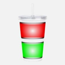 Red and Green Acrylic Double-wall Tumbler