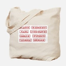 Rubber Stamps Tote Bag