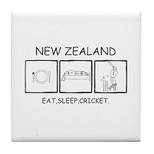 Cute Cricket new zealand Tile Coaster