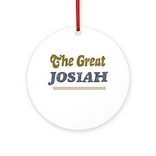 Josiah Ornament (Round)