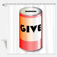 Give Charity Tin Shower Curtain