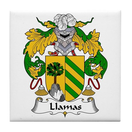 Llamas Tile Coaster