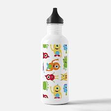 Little Monster Pattern Water Bottle