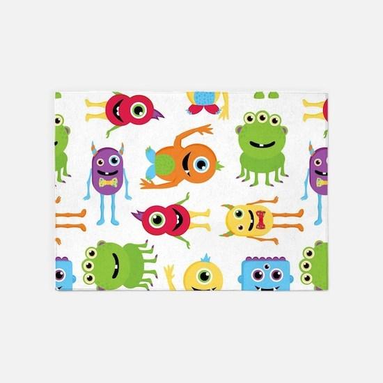 Little Monster Pattern 5'x7'Area Rug