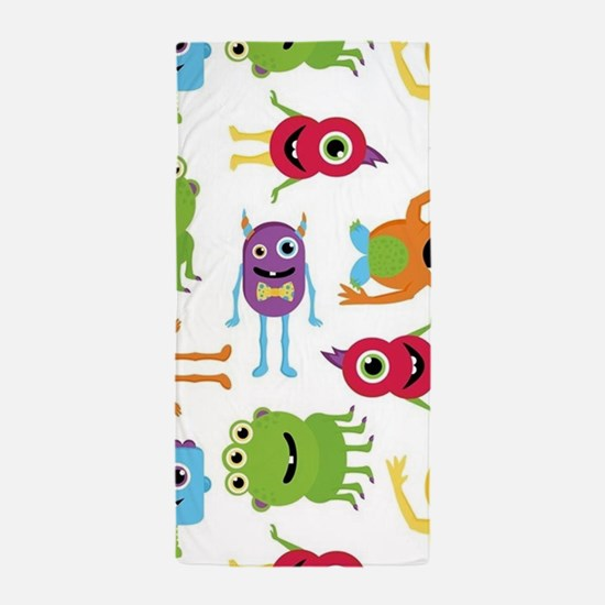 Little Monster Pattern Beach Towel
