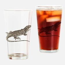 Vintage lizard art Drinking Glass