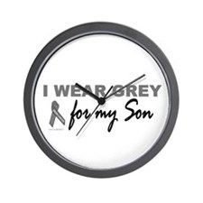 I Wear Grey For My Son 2 (BC) Wall Clock
